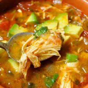 taco soup with avocado