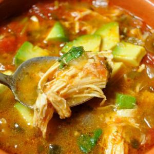 taco soup with avocado