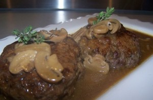 salisbury steak w mushrooms