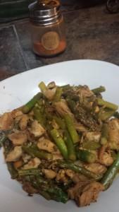 lemony asparagus chicken