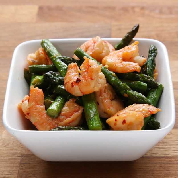 Shrimp and Asparagus Stir Fry | My Team My Health