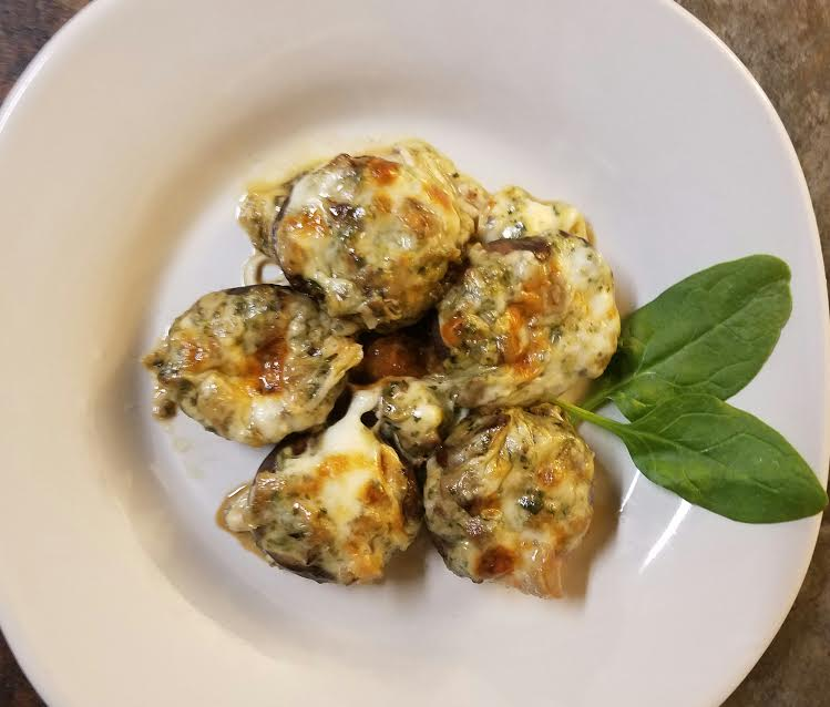 mozzarella-and-spinach-stuffed-mushrooms
